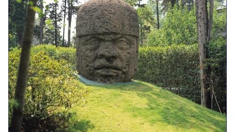Kolossalkopf eines Olmeken.
